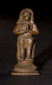 Hanuman. Inde - Karnataka. XIXe siècle. Bronze...