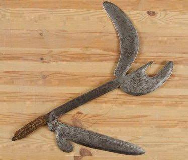 AZANDE (R. D. Congo) Couteau de jet. Très...