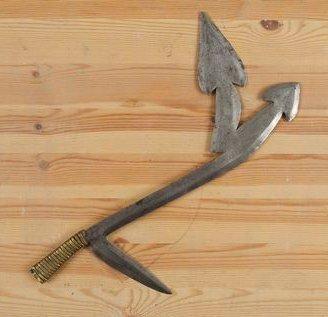 NSAKARA (R. D. Congo) Couteau de jet. Belle...
