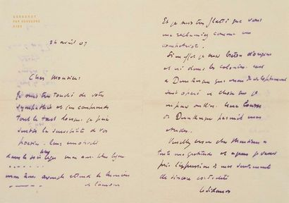 Henri LE SIDANER (1862-1939). 18 L.A.S.,...
