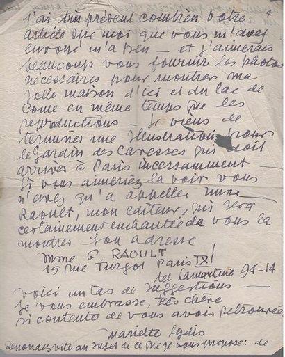 Mariette Lydis (1887-1970). L.A.S., Buenos...