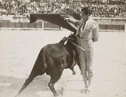 Pablo picasso (1881-1973). P.A.S. sur une...