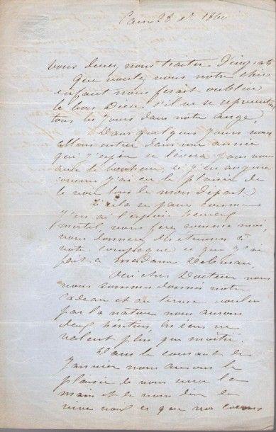 Charles DEBURAU (1829-1873) mime. L.A.S.,...