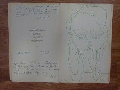 [Pablo PICASSO]. 3 imprimés, 1952-1961. {CR}Infus...