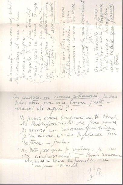 Georges ROUAULT (1871-1958). L.A.S. «GR»,...