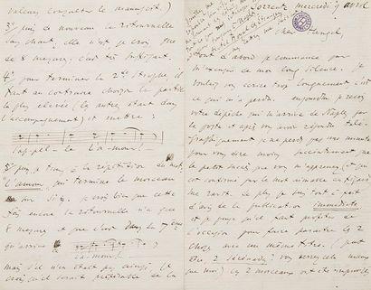 Léo DELIBES (1836-1891). 16 L.A.S. (une signature...