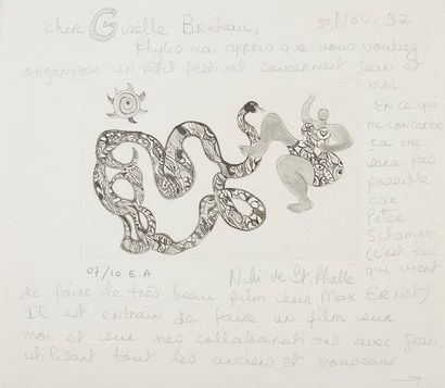 Niki de SAINT-PHALLE (1930-2002). L.A.S....