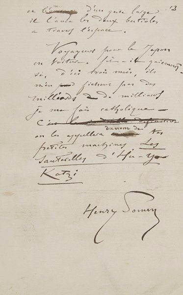 François Clément Sommier, dit Henry SOMM...