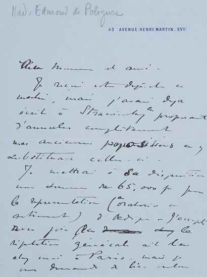 [Serge de DIAGHILEV (1872-1929) directeur...