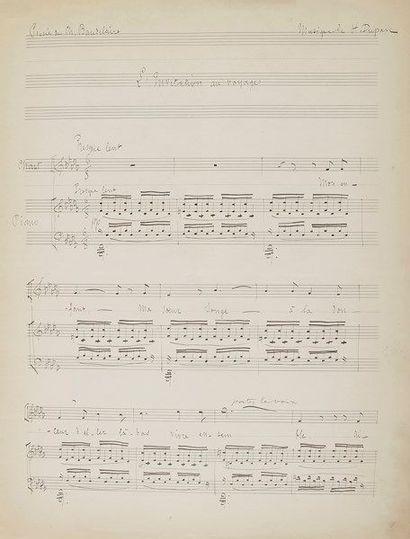 Henri DUPARC (1848-1933). Manuscrit musical...