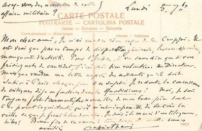 Gabriel FAURÉ (1845-1924). L.A.S., 5 septembre...