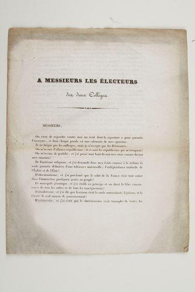 Alphonse de LAMARTINE. 3 imprimés, 1834;...