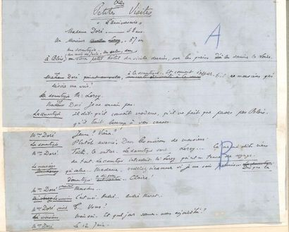 Henri LAVEDAN (1859-1940). Manuscrit autographe...
