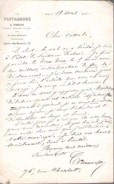 littérature. Plus de 70 lettres, manuscrits...
