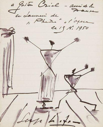 Serge LIFAR (1905-1986) danseur et chorégraphe....