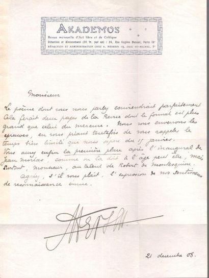 [Robert de MONTESQUIOU]. 34 lettres ou cartes...