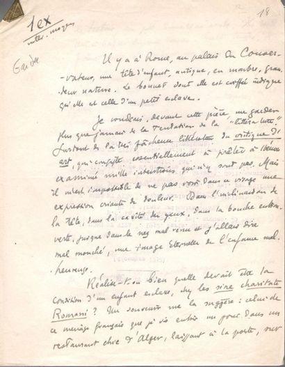 Henry de MONTHERLANT (1896-1972). 2 manuscrits...