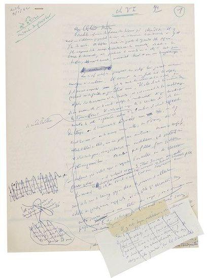 Henry de MONTHERLANT. Manuscrits autographes et tapuscrits avec additions et corrections...
