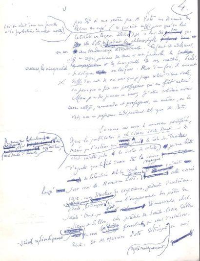 Henry de MONTHERLANT. Manuscrit autographe, Les Sources de Don Celestino, [1963];...