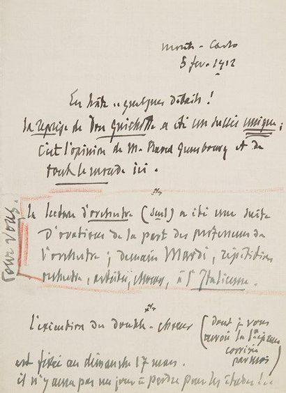 Jules MASSENET (1842-1912). 8 L.A.S. et 2...