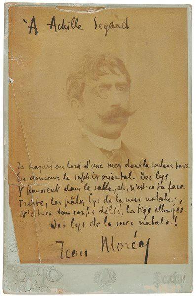 Jean MORÉAS (1856-1910) poète. Photographie...