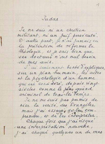Marcel PAGNOL (1895-1974). Manuscrit autographe...