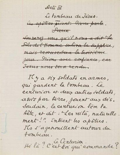 Marcel PAGNOL. Manuscrit autographe et tapuscrit...