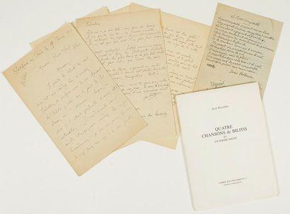 Jean PELLERIN (1885-1921) poète. 5 poèmes...