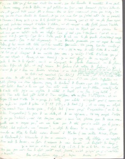 Roger PEYREFITTE. L.A.S. «R», [Alet fin 1940?], à son ami Henry de Montherlant;...
