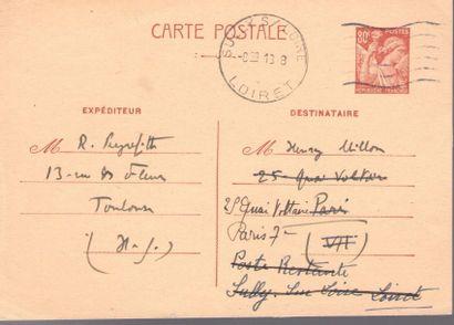 Roger PEYREFITTE. 4 L.A.S., Toulon [1941],...