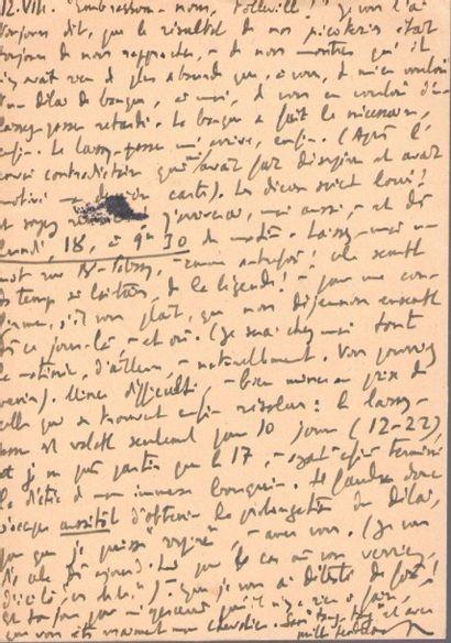 Roger PEYREFITTE. 4 L.A.S., Toulon [1941], à M. Millon [Henry de Montherlant]; 4...