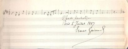 musique. 14 L.A.S. ou P.A.S., XIXe siècle....