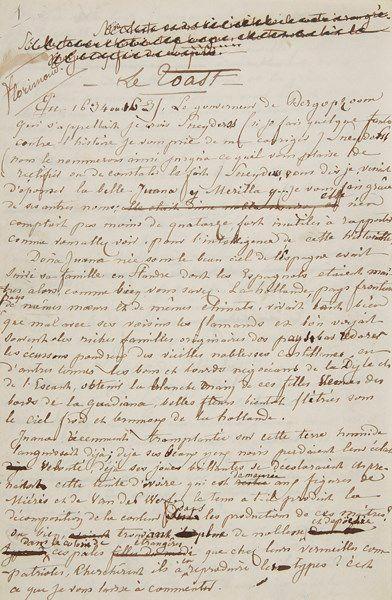 George SAND (1804-1876). Manuscrit autographe...