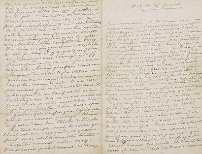 George SAND. L.A.S. «George», Nohant 25 janvier [1848], à Giuseppe Mazzini; 6 pages...