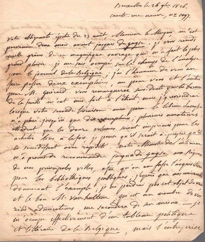 Goswin Joseph Augustin, baron de Stassart (1780-1854) homme politique, écrivain...