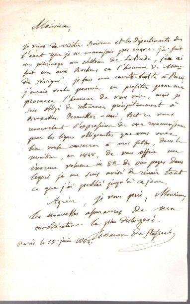Goswin Joseph Augustin, baron de Stassart....