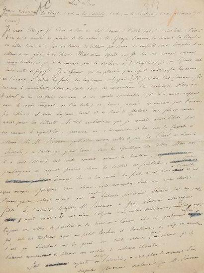 André THéRIVE (1891-1967). 9 manuscrits autographes...