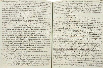 amériQUe. guerre d'indépendance américaine. Manuscrit, Histoire de l'origine, du...