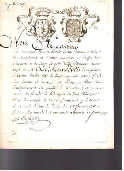 ancien régime. 25 lettres ou pièces, XVIIe-début XVIIIe siècle.{CR}Lettres de ratification;...