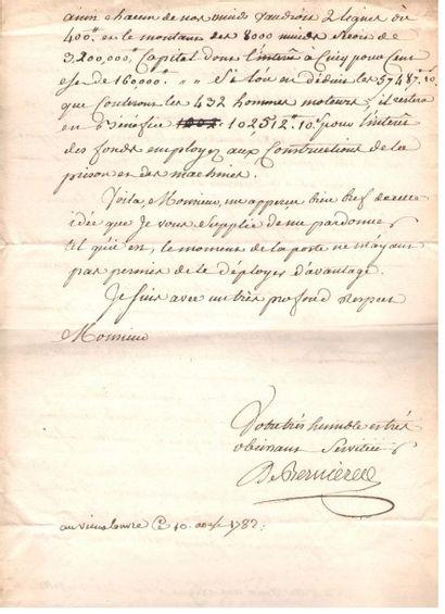 ancien régime. 6 lettres ou pièces, XVIIe-XVIIIe siècle. {CR}Bernières (1782, très...