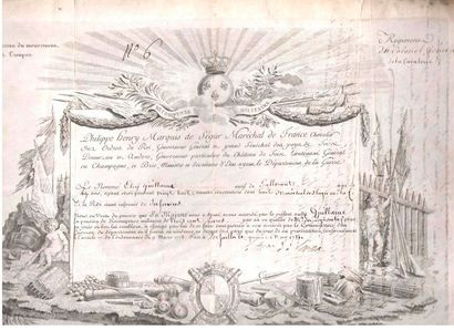 ANCIEN Régime. 11 L.S. ou P.S., XVIIIe siècle (défauts à quelques pièces). {CR}Philippe...