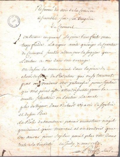 Pierre-Louis Dubus, dit PRÉVILLE (1721-1799)...
