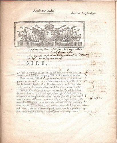 Charles-Claude de La Billarderie, comte d'ANGIVILLER (1730-1809) membre de l'Académie...
