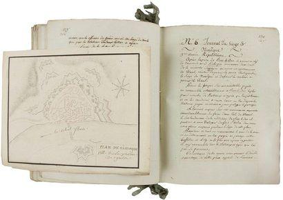 Armée du Nord. Manuscrit, Journaux des sieges des places d'Ypres, Nieuport, L'Ecluse,...