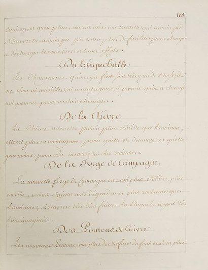 artillerie. Manuscrit, [vers 1770]; un volume...