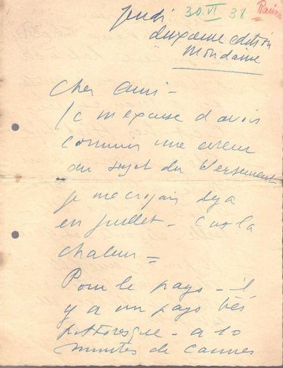 Jules Muraire, dit RAIMU (1883-1946) acteur....