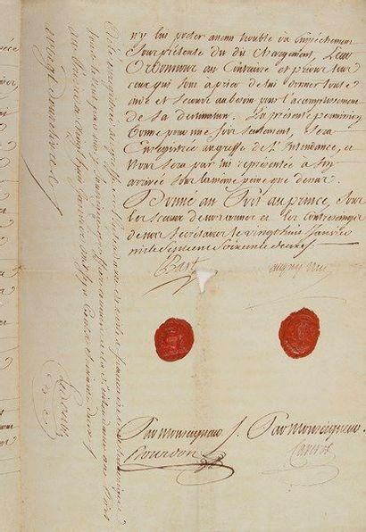 Philippe-François BART (1706-1784) officier...
