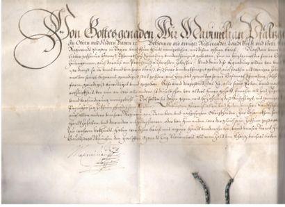 Bavière. 2 P.S., Munich 1608-1626; vélins...