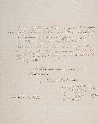 François, marquis de BEAUHARNAIS (1756-1846)...