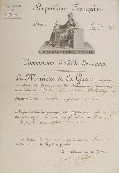 Alexandre BERTHIER (1753-1815) maréchal et...